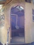 Inside a composting toilet, natural building