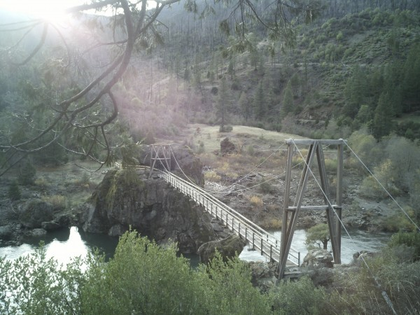 Illinois River's Swinging Bridge
