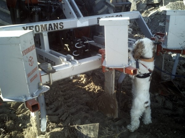 Charlie checking out a keyline plow on the west coast trip