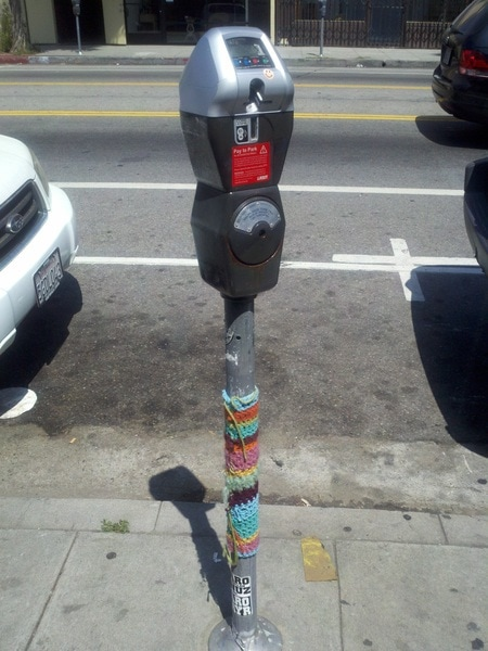 Yarn Bombing on an Highland Park parking meter