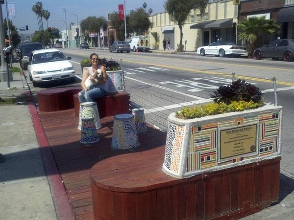 York Boulevard Parklet with Erin