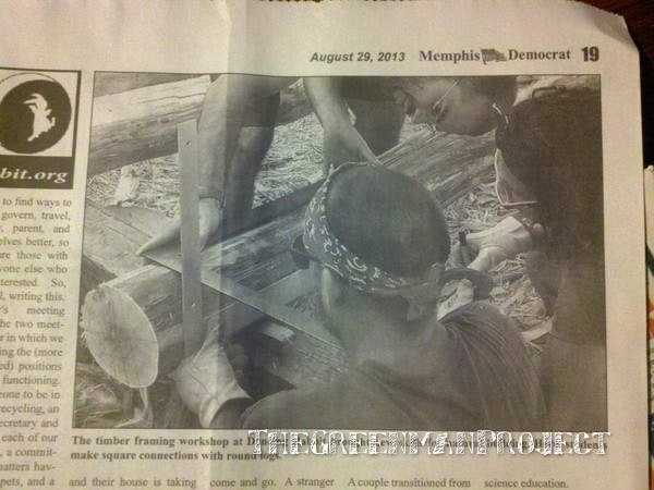 Memphis Democrat, timber frame workshop