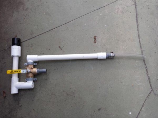 Greywater Laundry to Landscape diverter valve setup