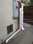 Rainwater Harvesting - RainHead with 6 inch first flush on wet system - The Greenman Project